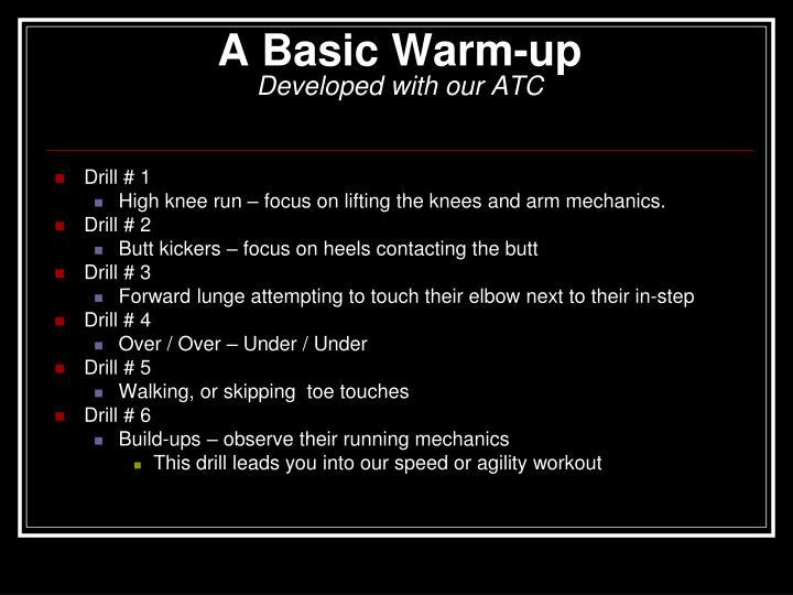 A Basic Warm-up