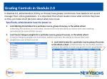 grading controls in skedula 2 0