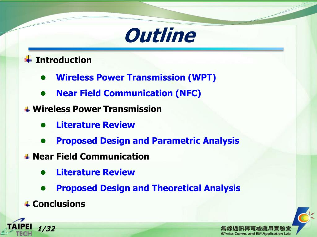 PPT - Wireless Power Transmission and Near Field Communication