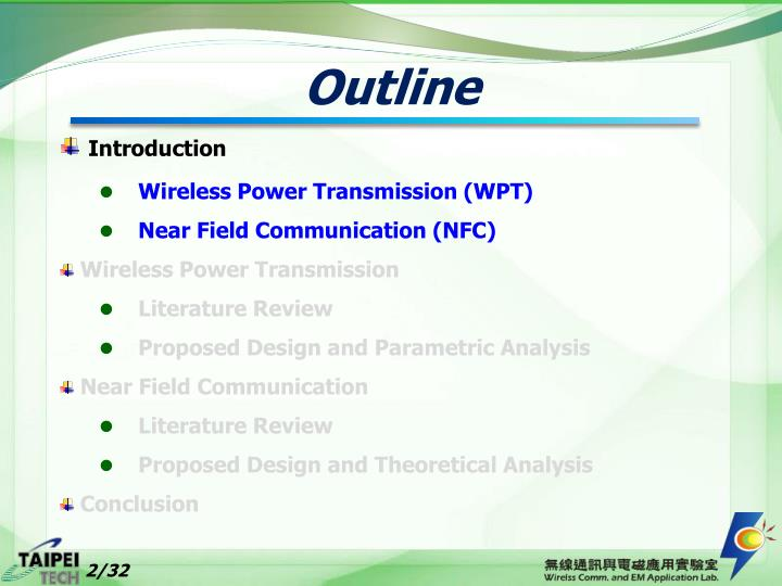 PPT - Wireless Power Transmission and Near Field