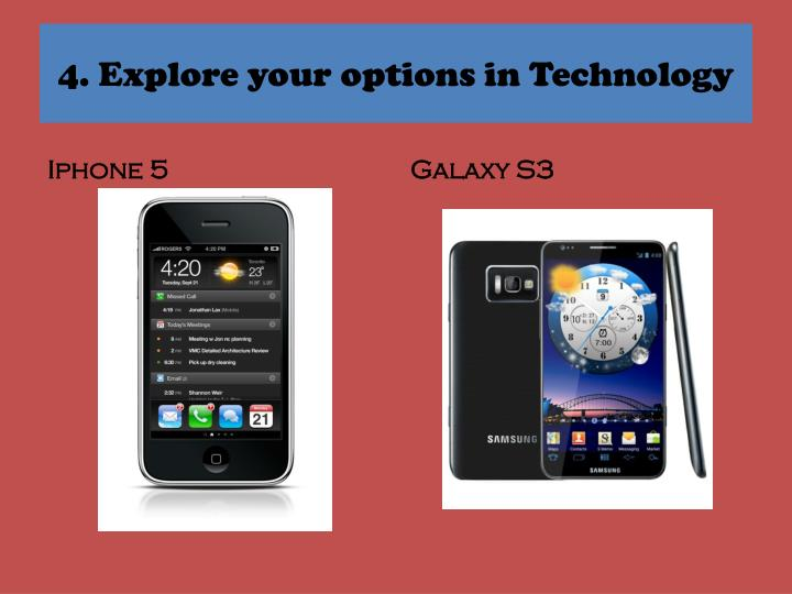 4. Explore your options in Technology