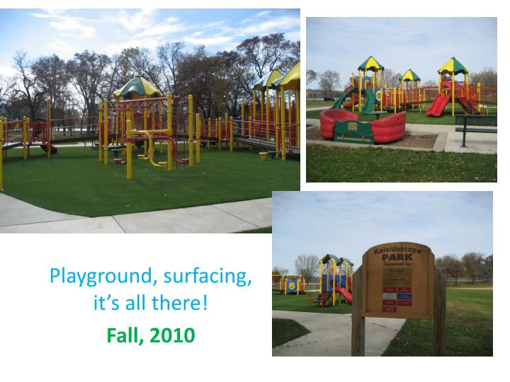 Playground, surfacing, it's all there!
