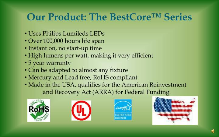 our product the bestcore series n.