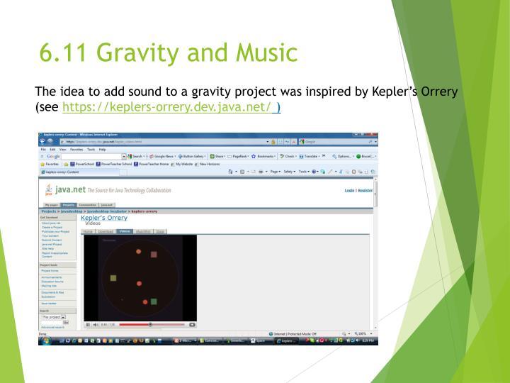 6.11 Gravity and Music