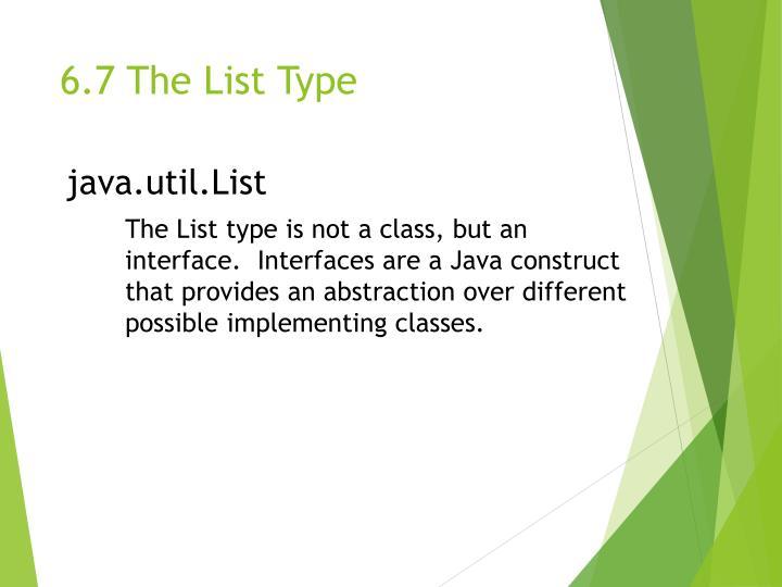 6.7 The List Type