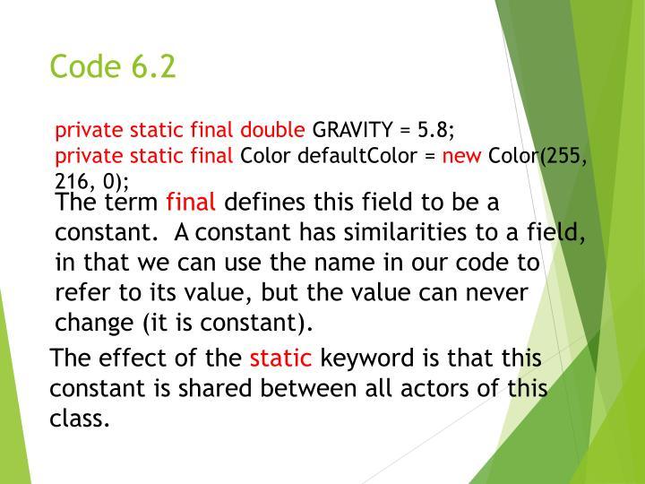 Code 6.2