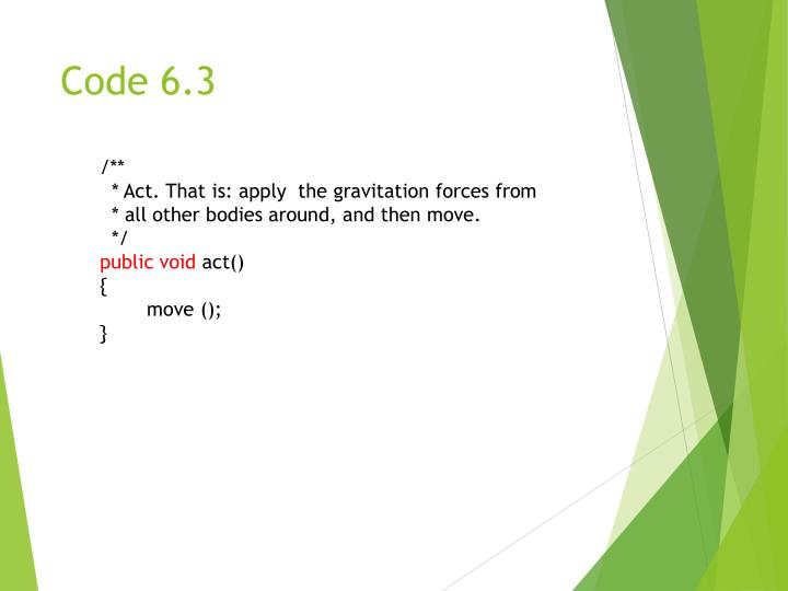 Code 6.3