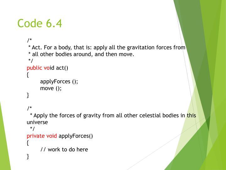 Code 6.4