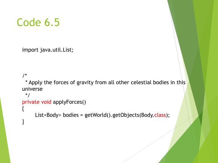 Code 6.5