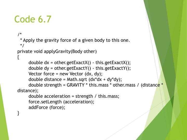 Code 6.7