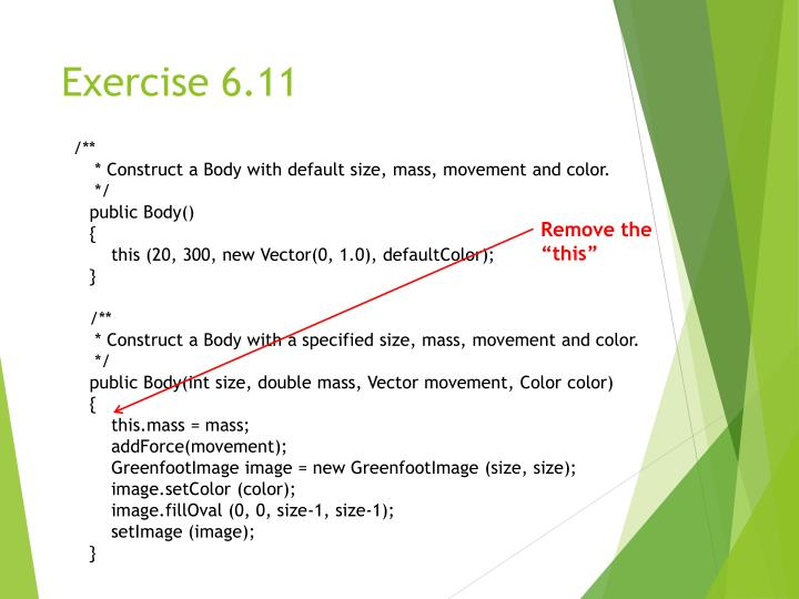 Exercise 6.11