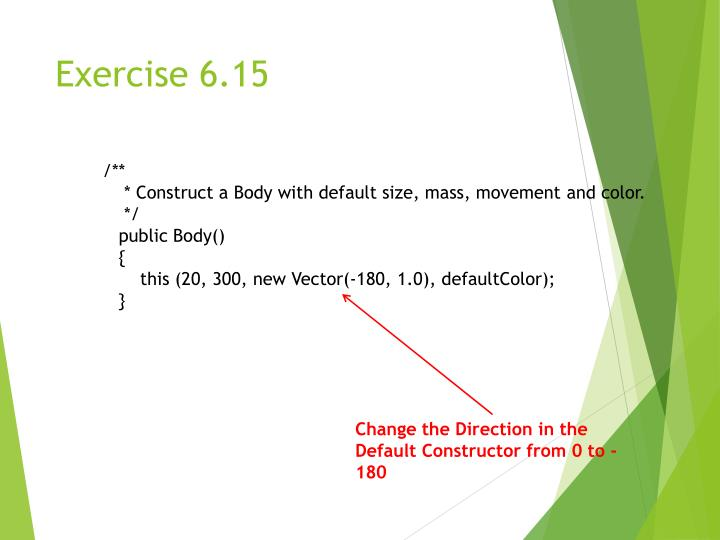 Exercise 6.15