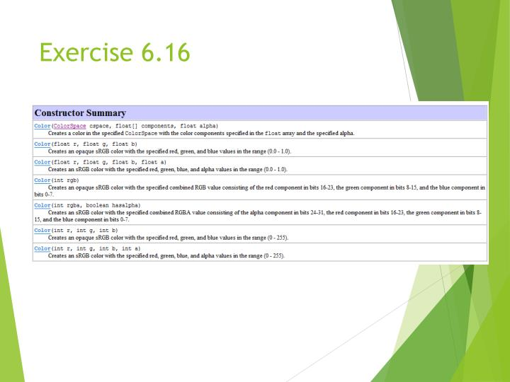 Exercise 6.16
