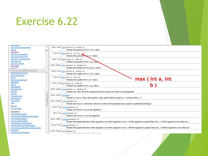 Exercise 6.22