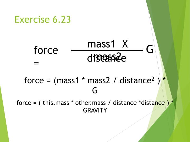 Exercise 6.23