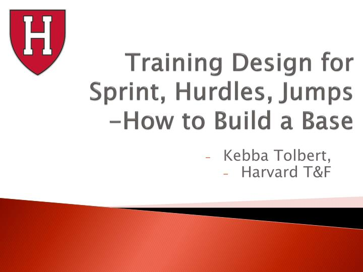 Training design for sprint hurdles jumps how to build a base
