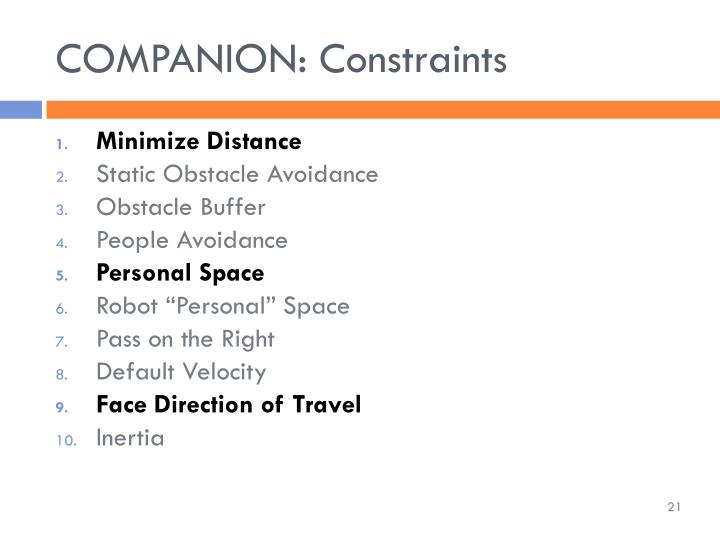 COMPANION: Constraints
