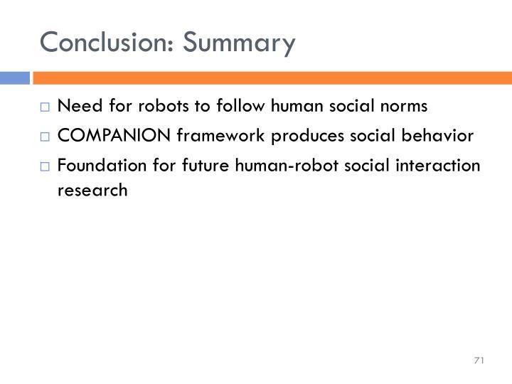 Conclusion: Summary