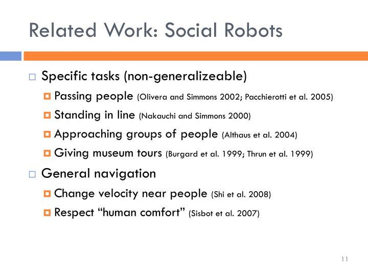 Related Work: Social Robots