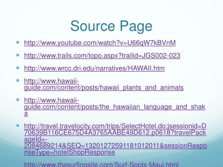 Source Page