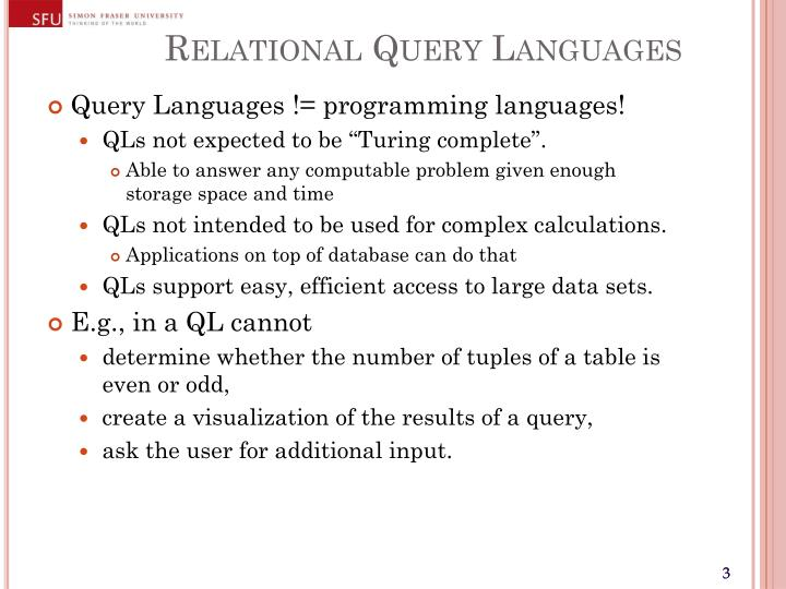 Relational query languages1