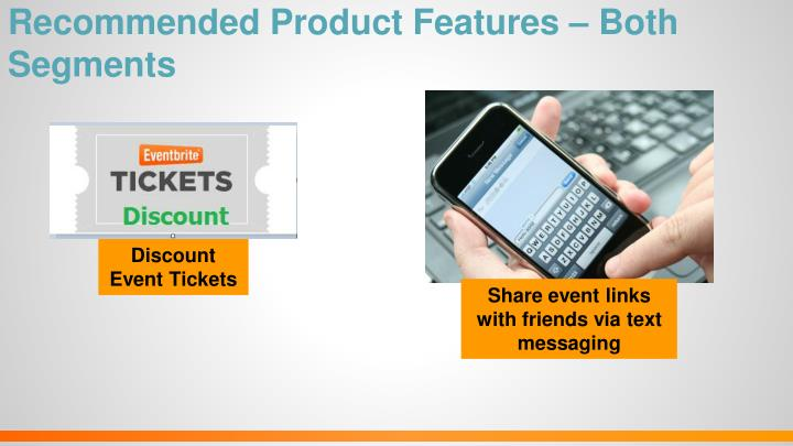 Recommended Product Features – Both Segments