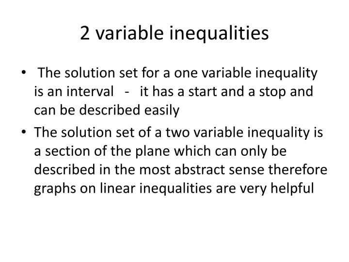 2 variable inequality Right from variables to variable, we have all of it included come to polymathlovecom and master two variables, inequalities and a great deal of other algebra subject areas.
