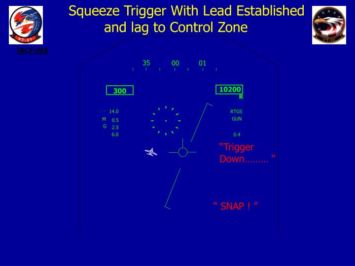 Squeeze Trigger With Lead Established                              and lag to Control Zone