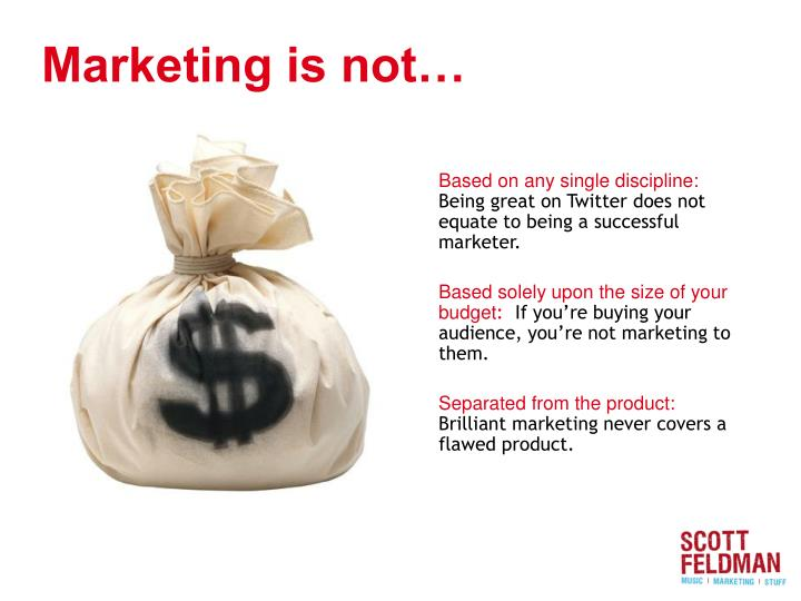 Marketing is not…
