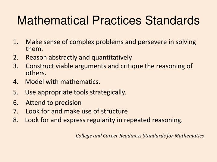 Mathematical Practices Standards