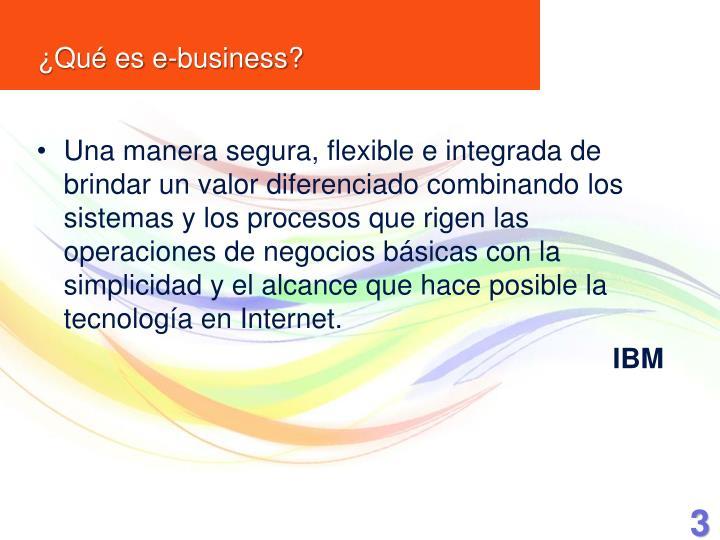 Qu es e business