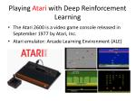 playing atari with deep reinforcement learning