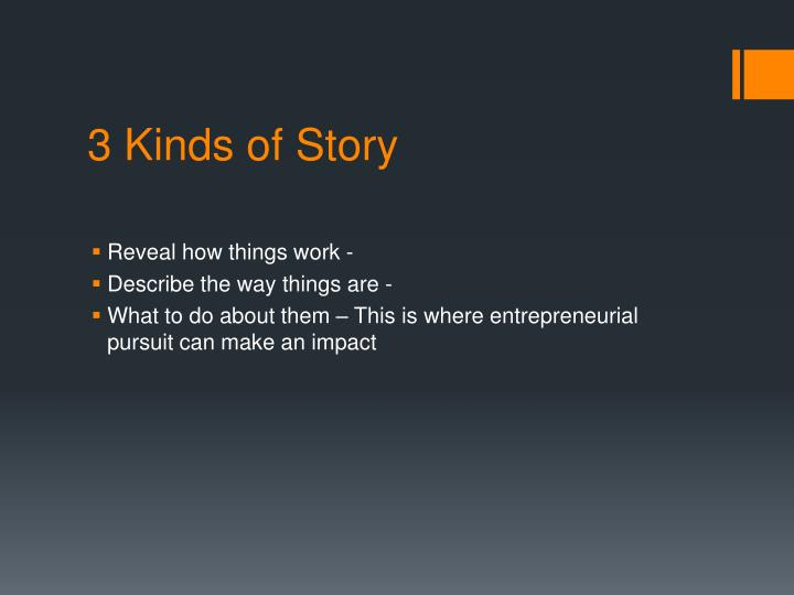 3 Kinds of Story