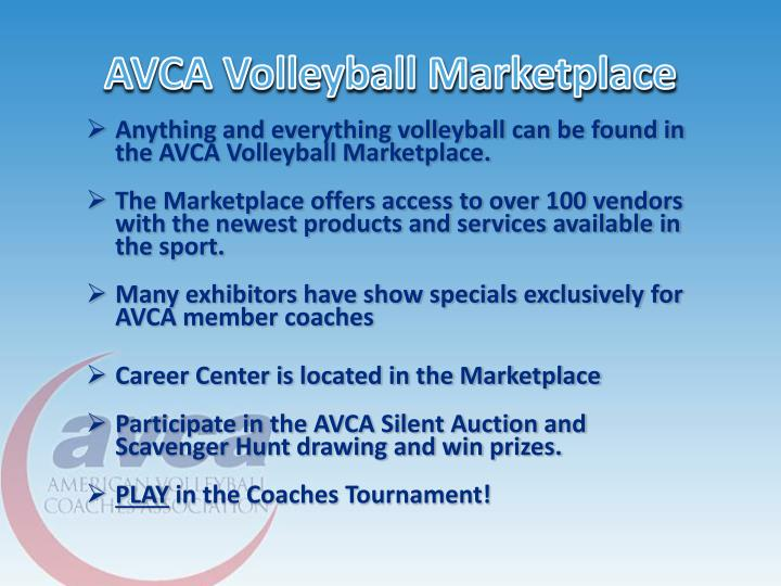 AVCA Volleyball Marketplace