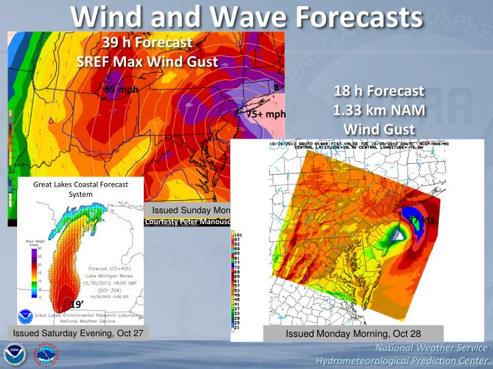 Wind and Wave Forecasts