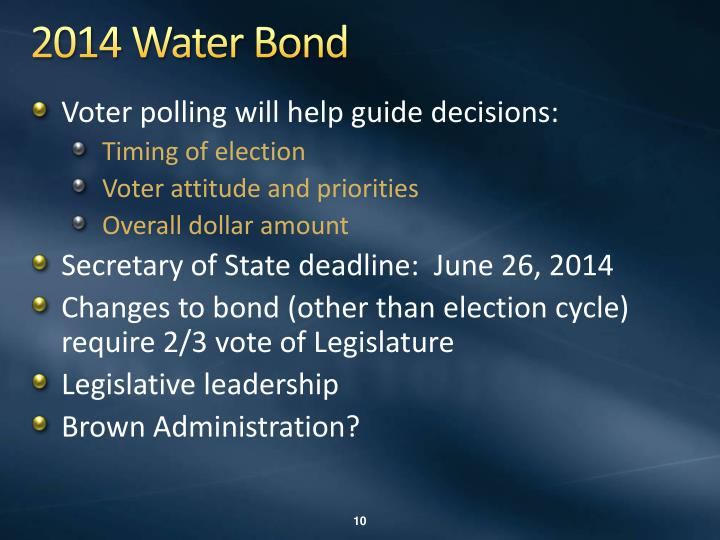 2014 Water Bond