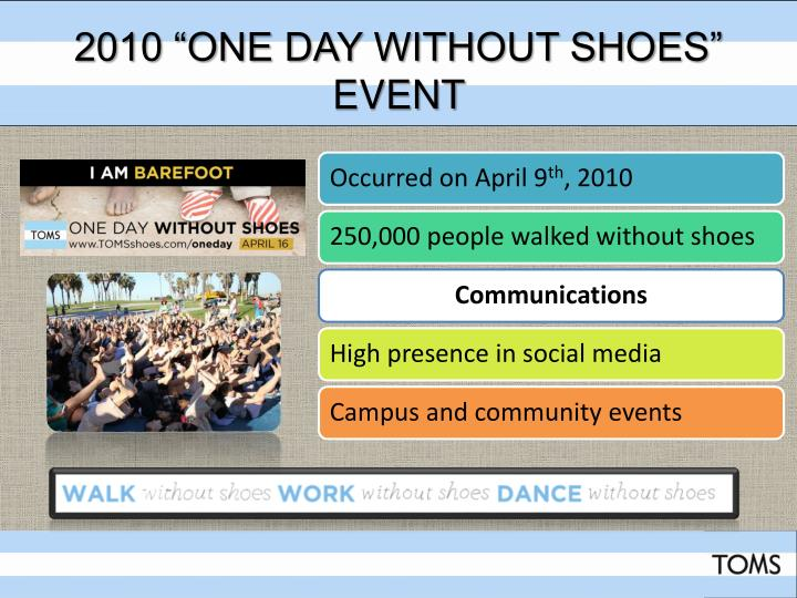 """2010 """"One Day Without Shoes"""" Event"""