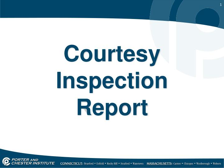 courtesy inspection report n.