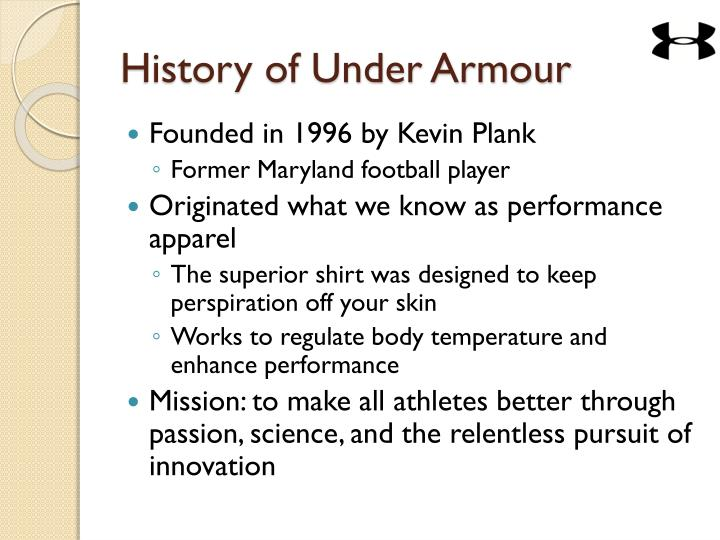 History of under armour