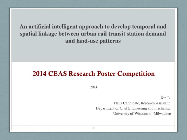 2014 ceas research poster competition 2014 n.
