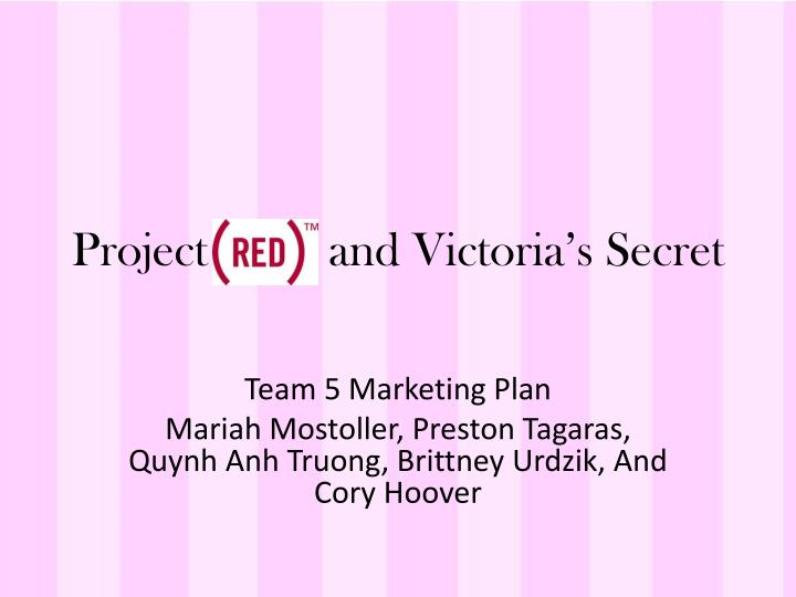 project and victoria s secret n.