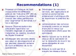 recommendations 1