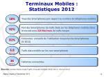 terminaux mobiles statistiques 2012