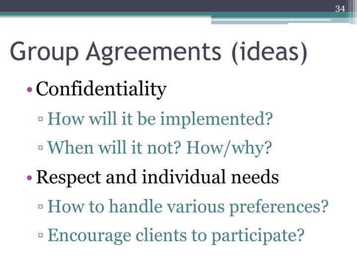 Group Agreements (ideas)