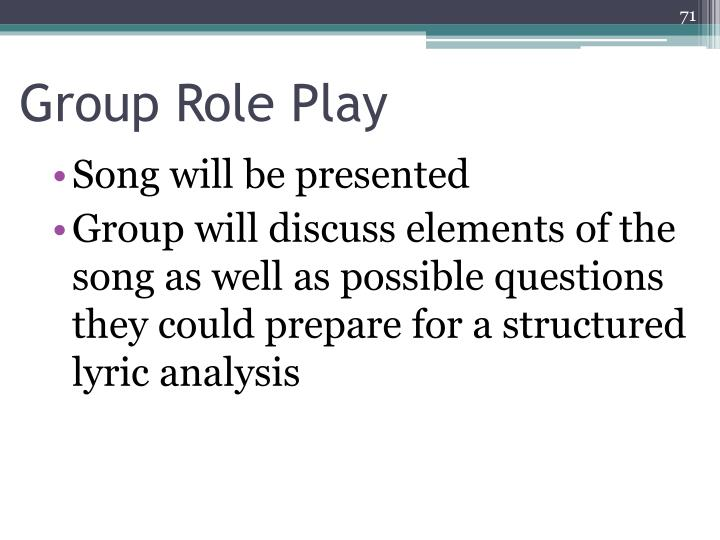 Group Role Play