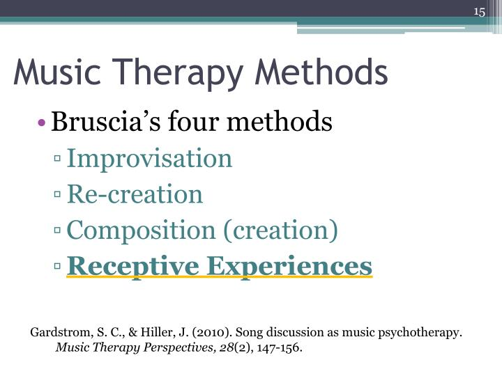 Music Therapy Methods