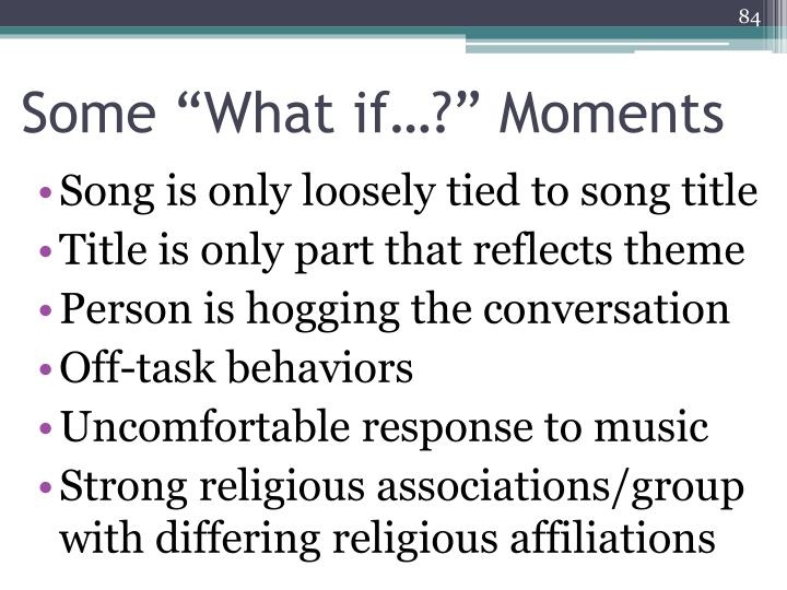 """Some """"What if…?"""" Moments"""