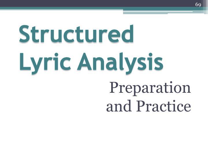 Structured Lyric Analysis
