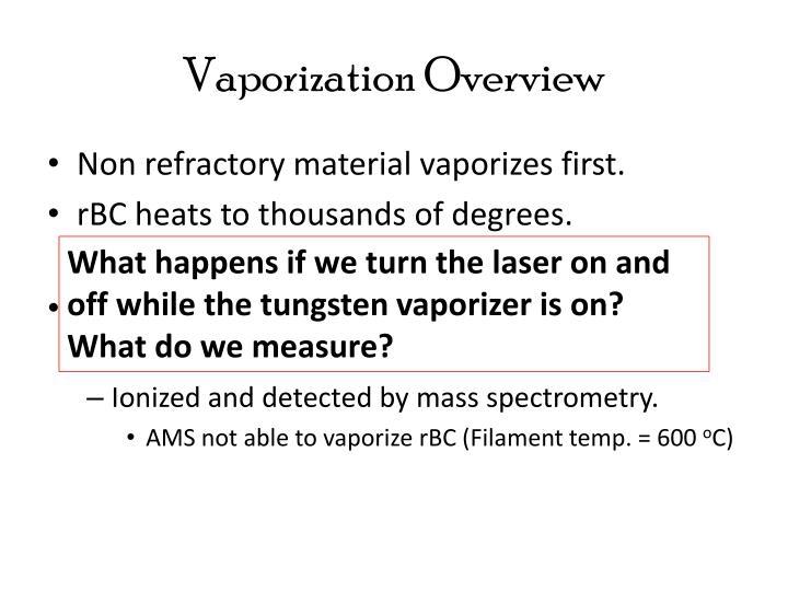 Vaporization Overview
