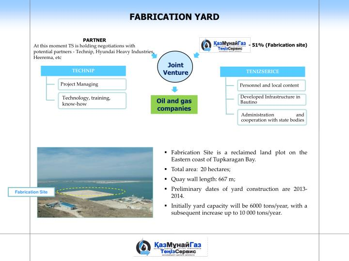 FABRICATION YARD